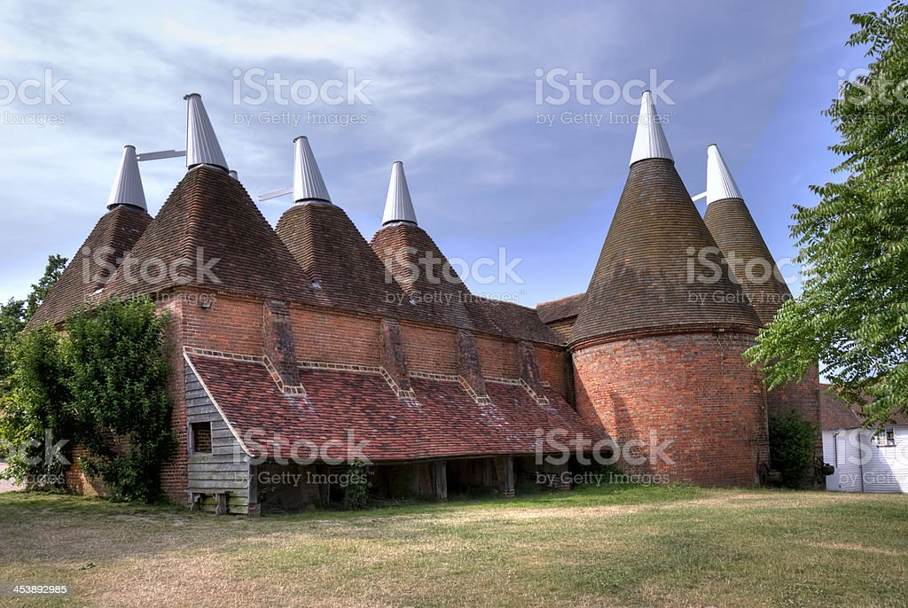 Disused Oast House in Kent, England stock photo
