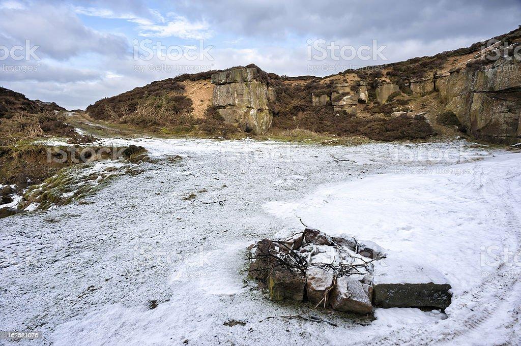 Disused stone quarry, North York Moors, Glaisdale, Yorkshire, UK. royalty-free stock photo