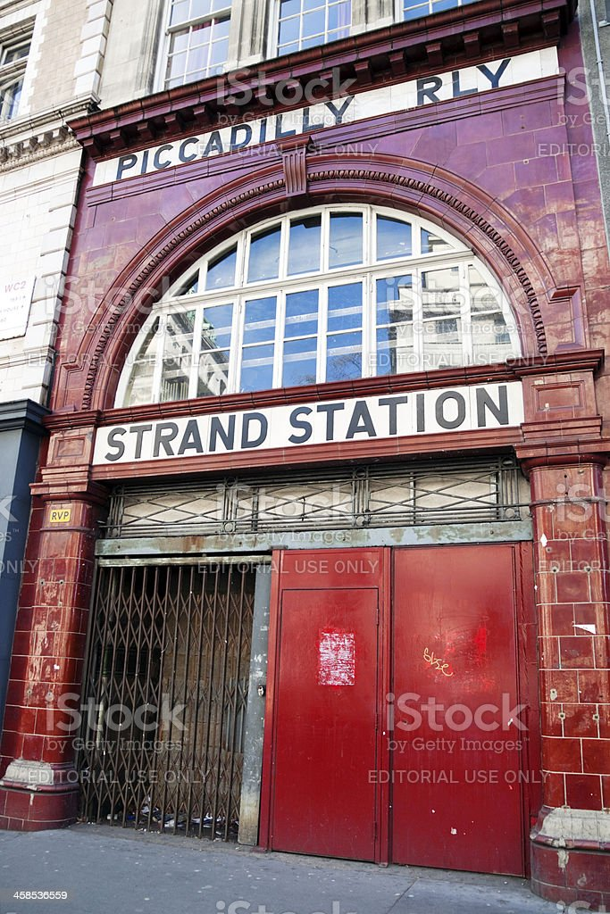 Disused underground station in London royalty-free stock photo