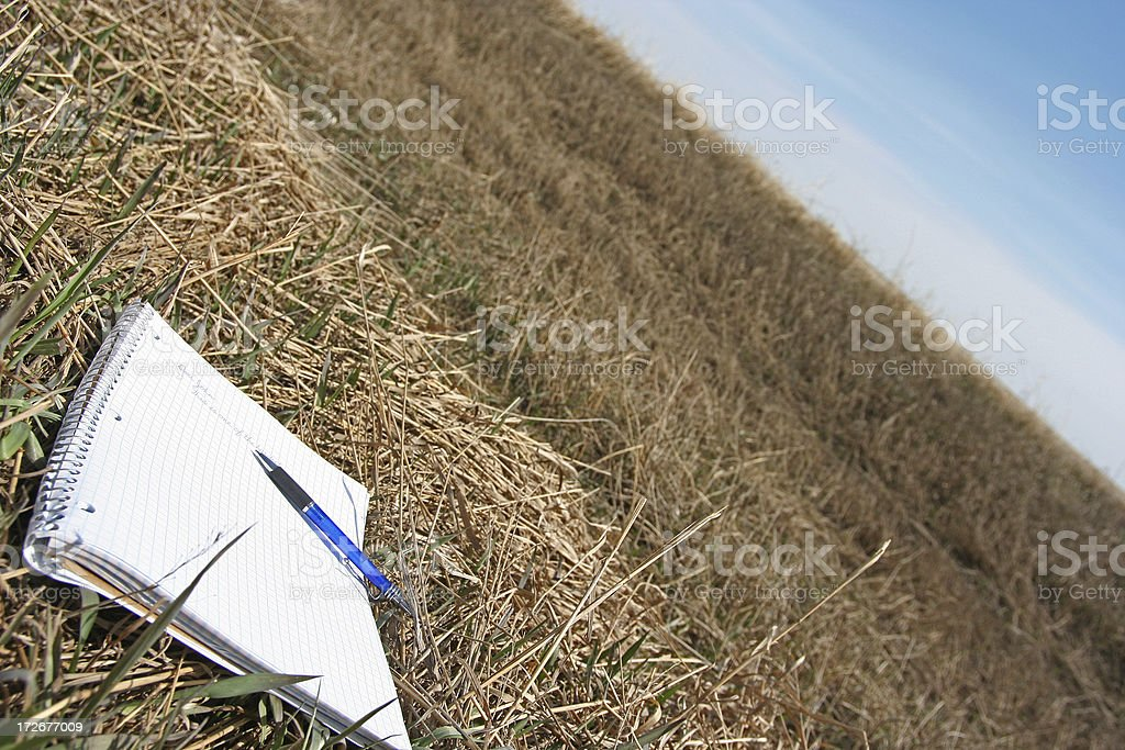 Ditching Letter stock photo