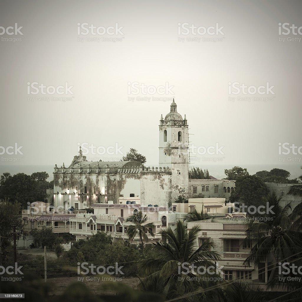 Diu Church In India stock photo