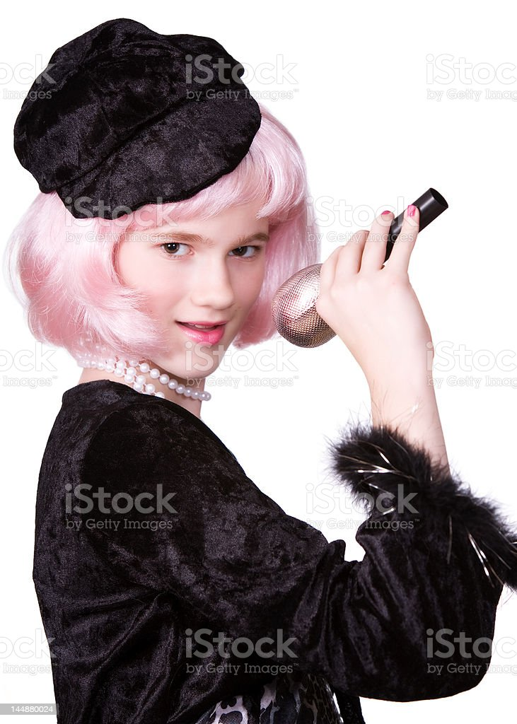 Diva at the Mike royalty-free stock photo