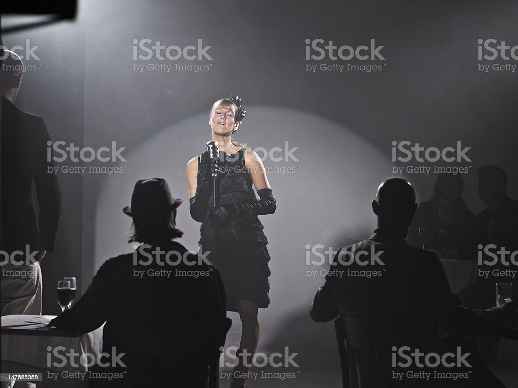 Diva Singing stock photo