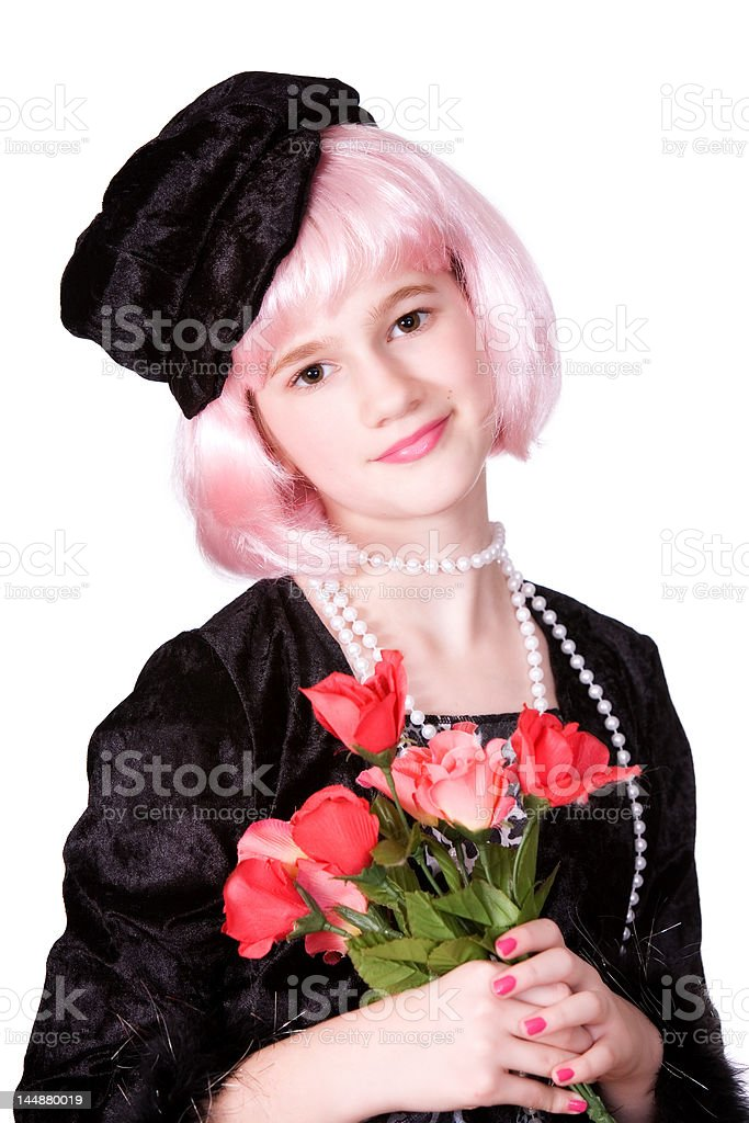 Diva with Roses royalty-free stock photo