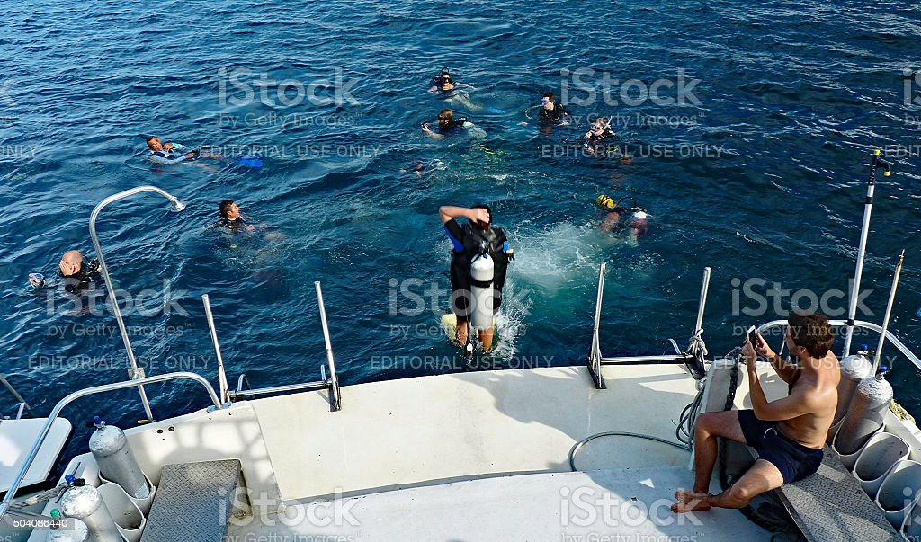 Dive Entry stock photo