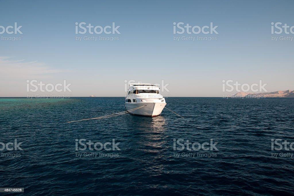 Diveboat no Mar Vermelho foto royalty-free