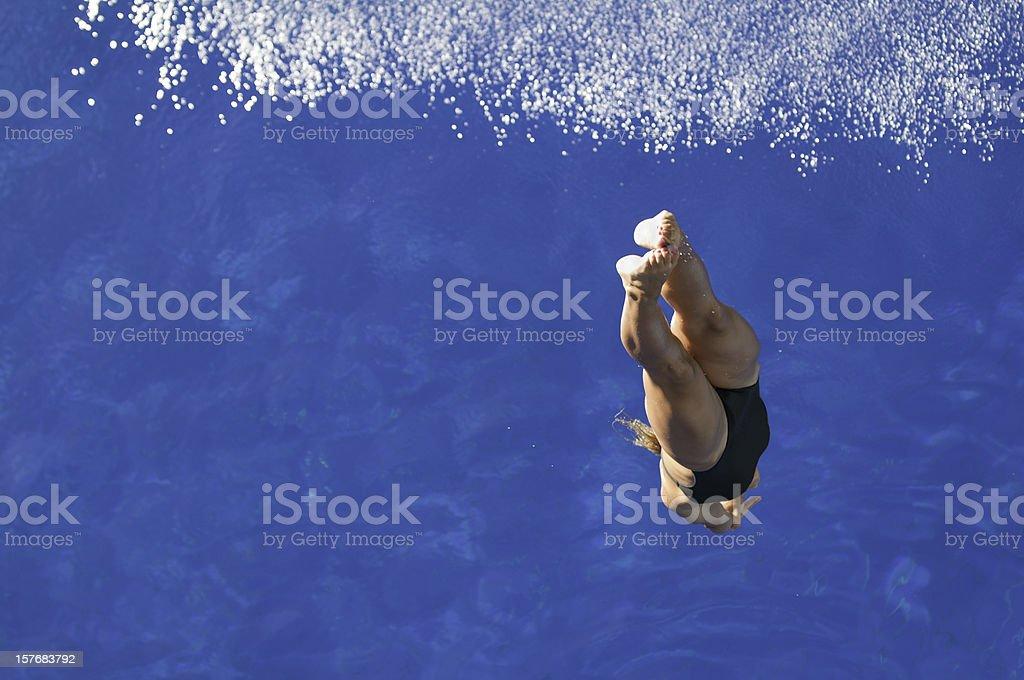Diver in flight stock photo