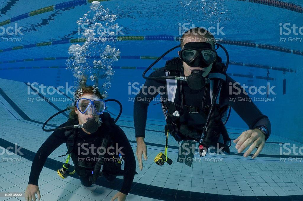 Divers During Training stock photo