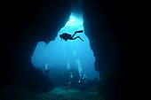 Divers in Underwater Cave