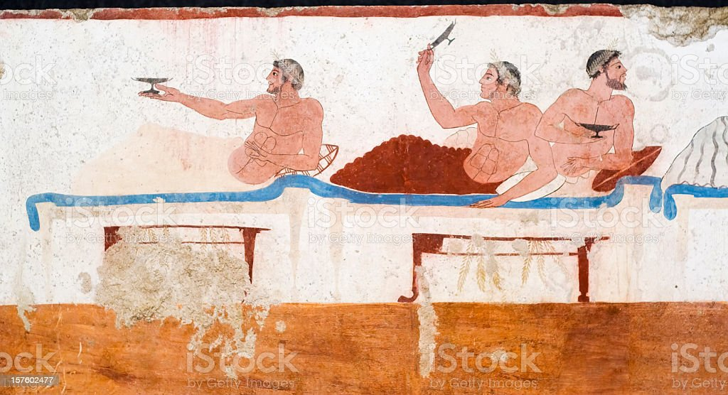 Diver's Tomb, Paestrum from Ancient Greece stock photo