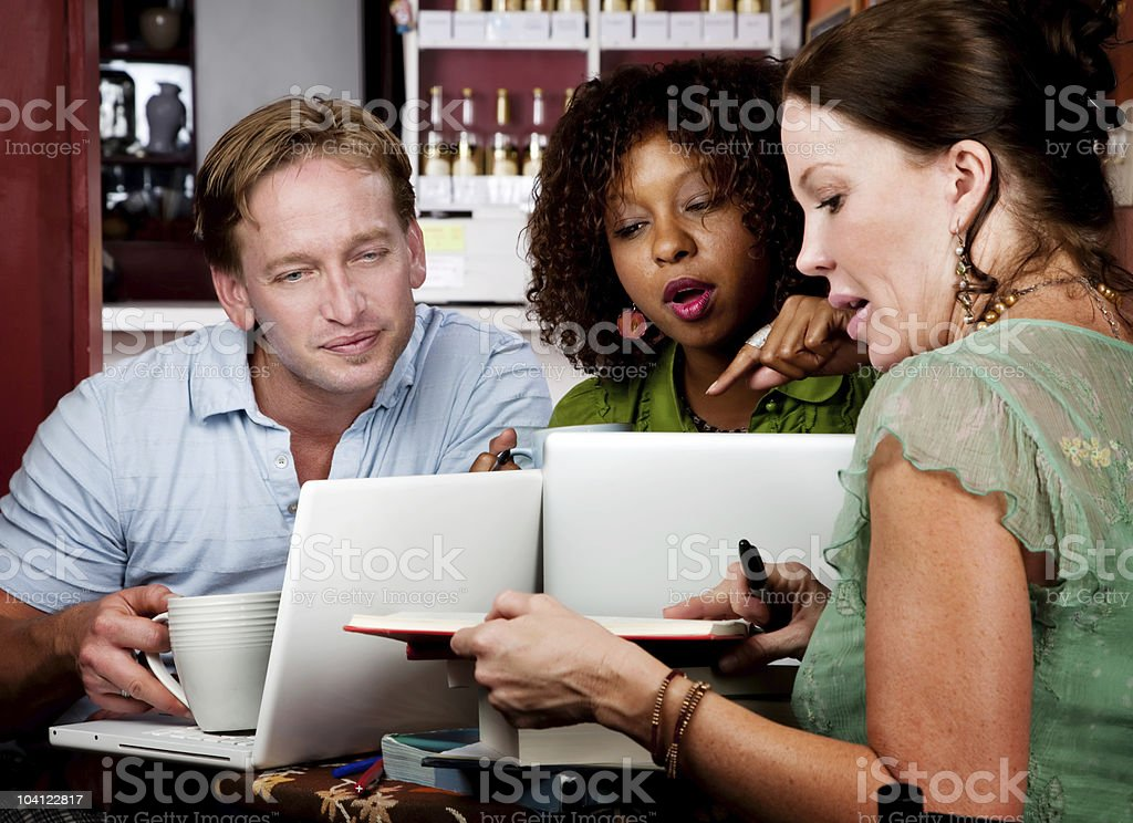 Diverse adult study group stock photo