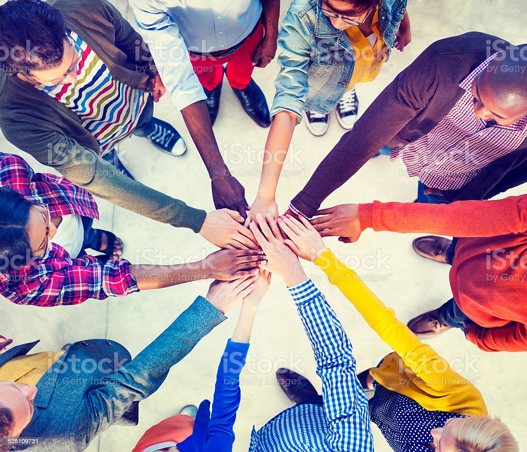 Diverse and Casual People and Togetherness Concept stock photo