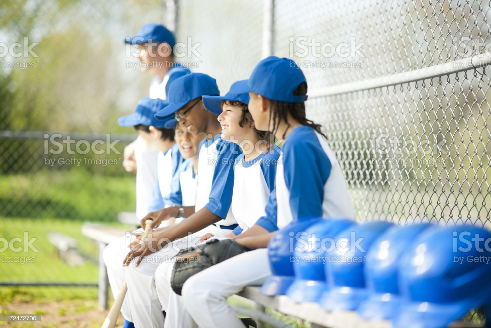 Diverse Boys Baseball Team royalty-free stock photo