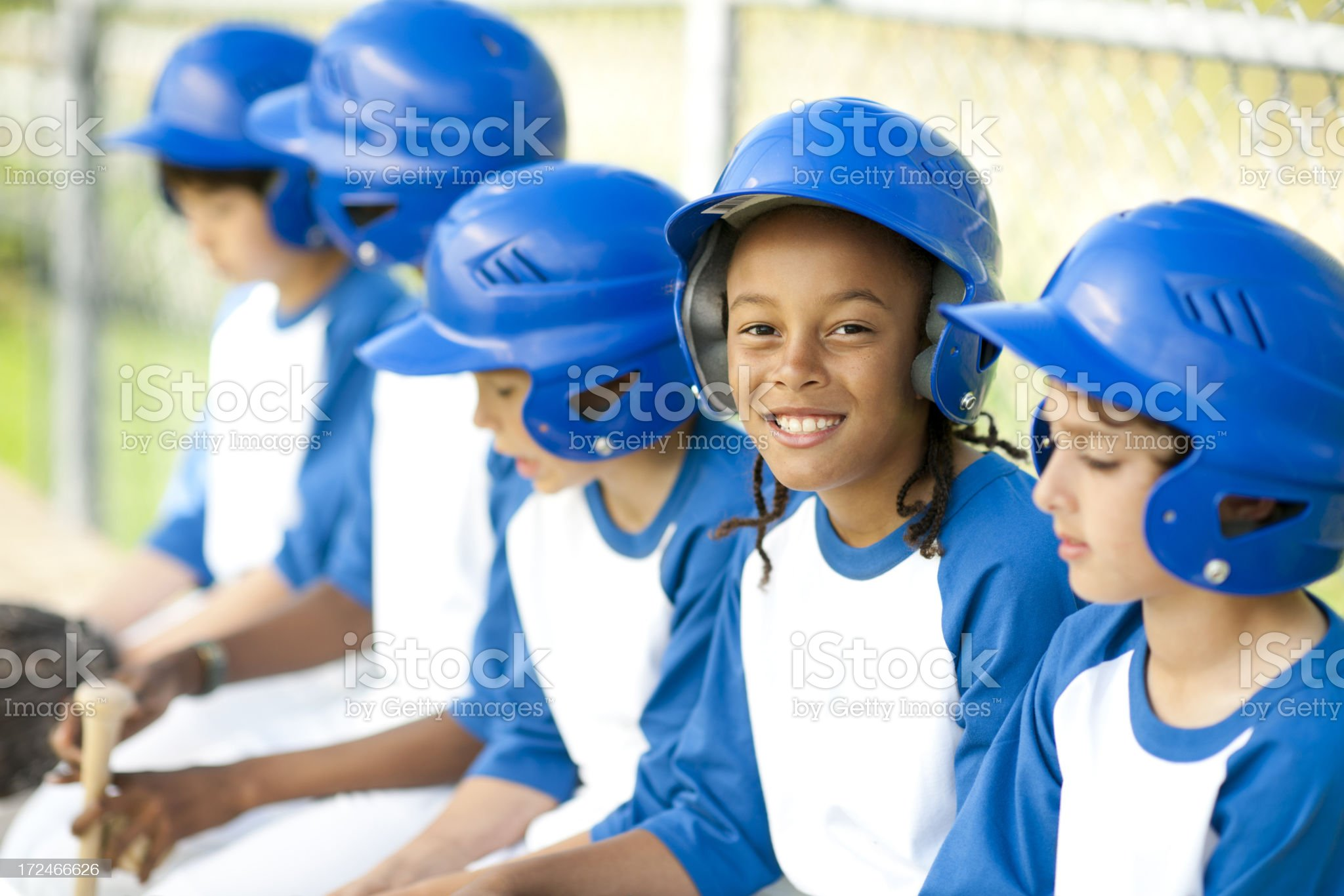 Diverse Boys Youth League Team royalty-free stock photo