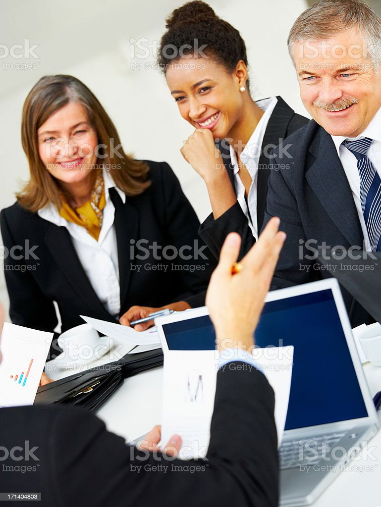 Diverse business group meeting stock photo