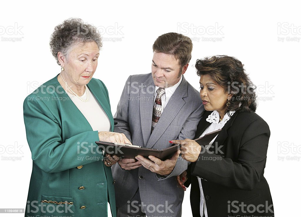 Diverse Business Group - Troubling Report royalty-free stock photo