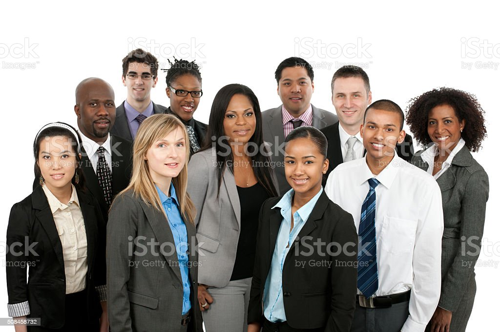 Diverse business people stock photo