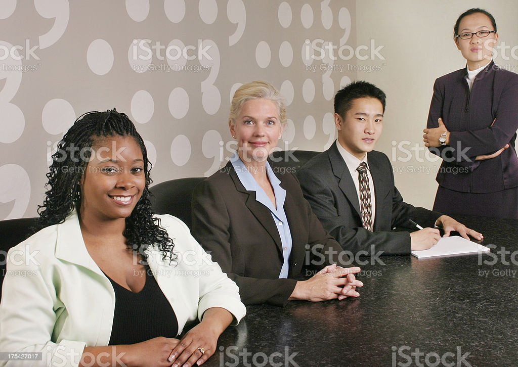 Diverse Business Team 4 royalty-free stock photo