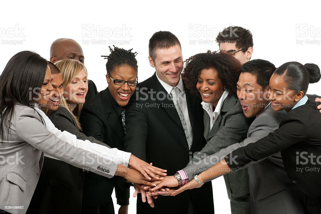 Diverse business team teamwork stock photo