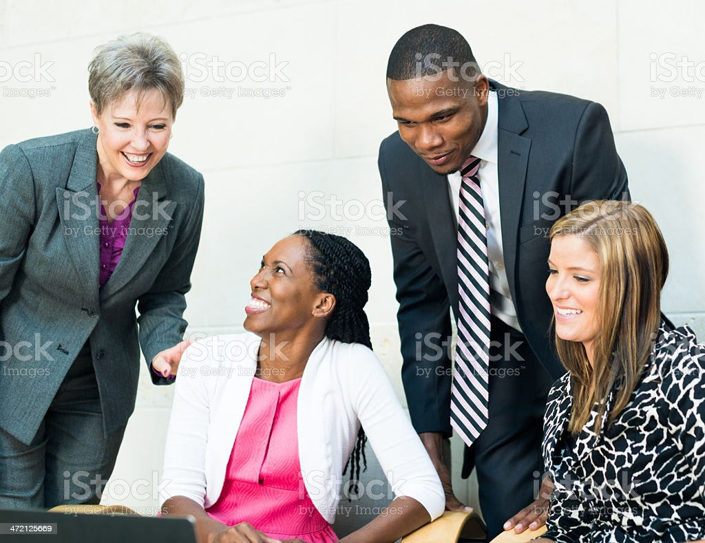 Diverse Business Team Working Together During Strategy Meeting royalty-free stock photo