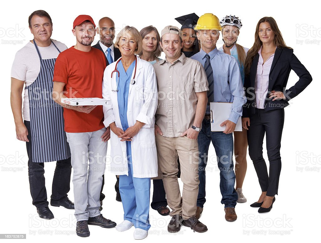 Diverse career paths on display stock photo