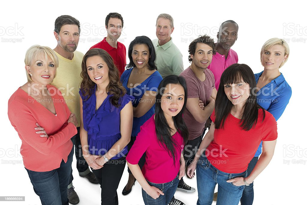 Diverse Casual People Group royalty-free stock photo