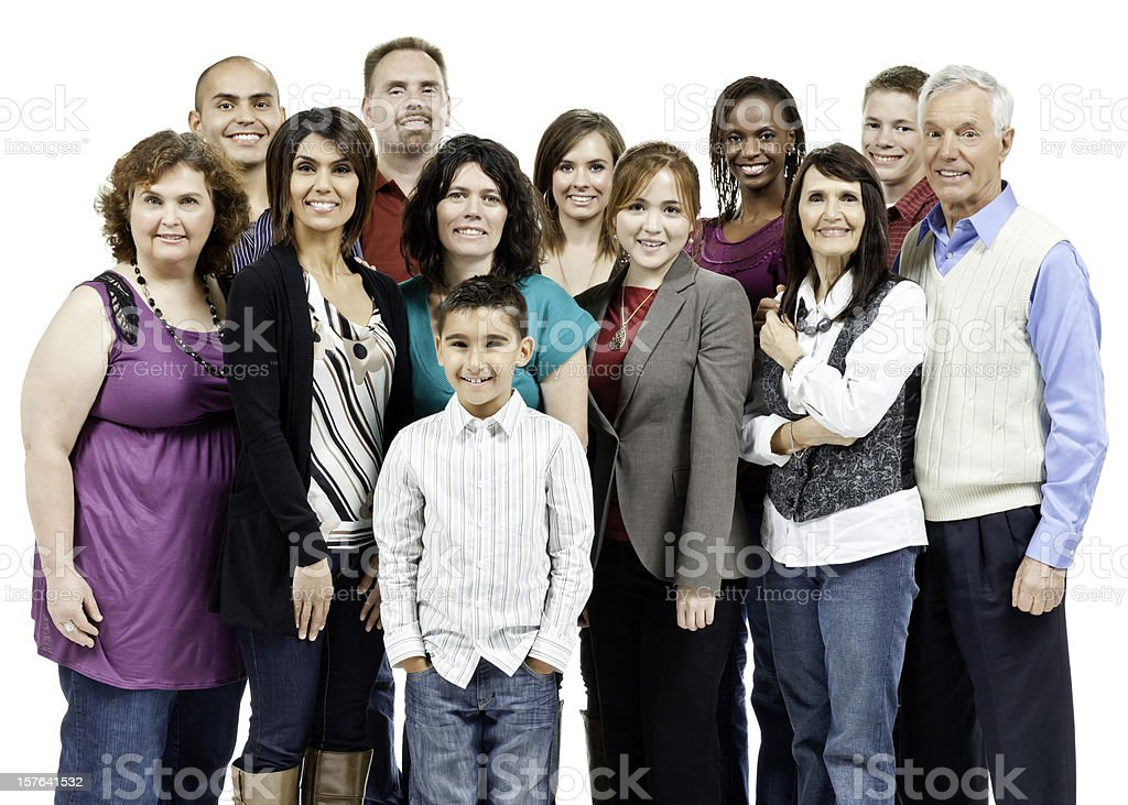Diverse Community Group Photo - Isolated royalty-free stock photo