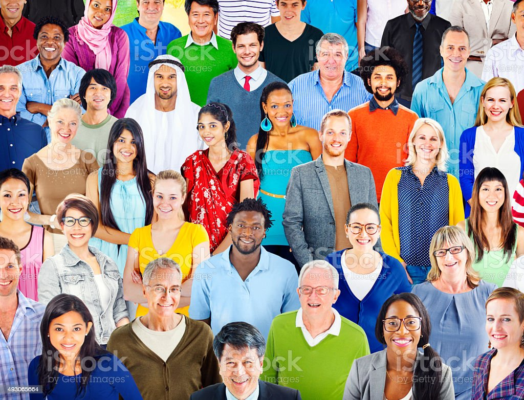 Diverse Diversity Ethnic Ethnicity Togetherness Unity Concept stock photo