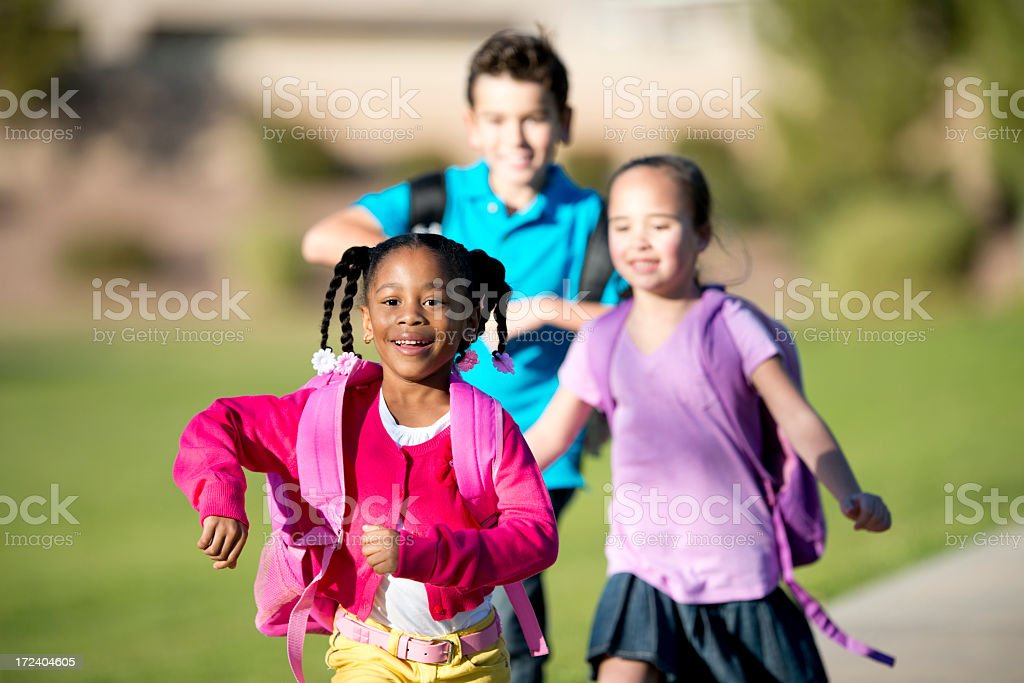 Diverse Elementary Children. royalty-free stock photo