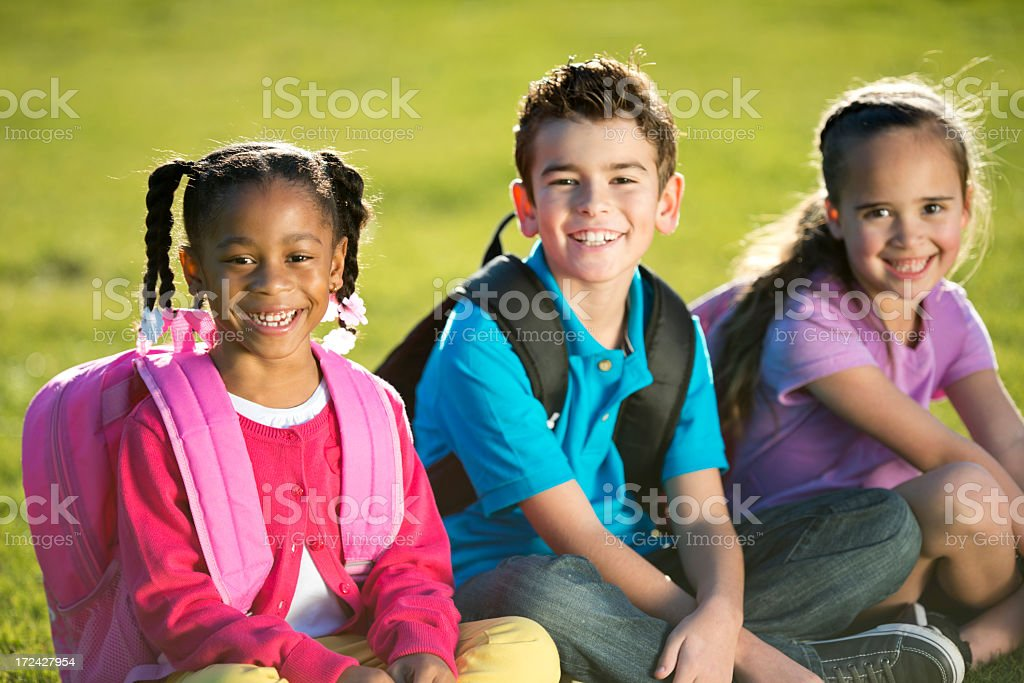 Diverse Elementary Children. royalty-free stock photo