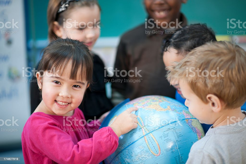 diverse elementary children stock photo