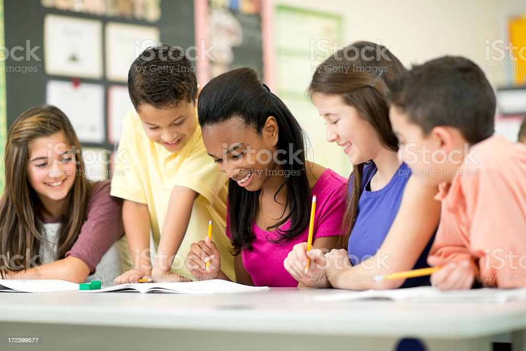 Diverse Elementary Class. royalty-free stock photo