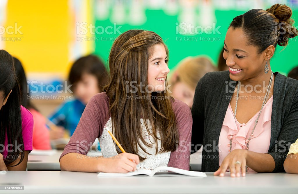 Diverse Elementary Class. stock photo