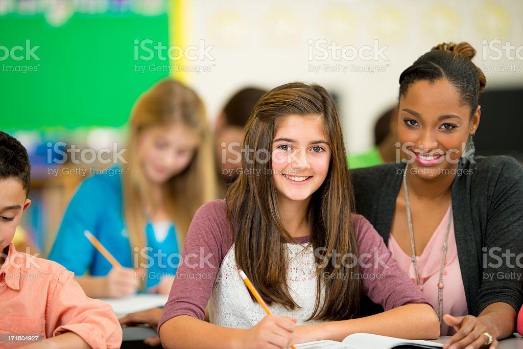 Diverse Elementary Classroom royalty-free stock photo