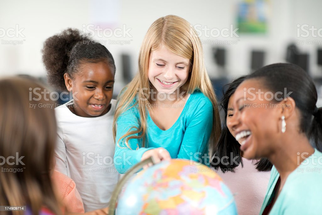 Diverse Elementary Students royalty-free stock photo
