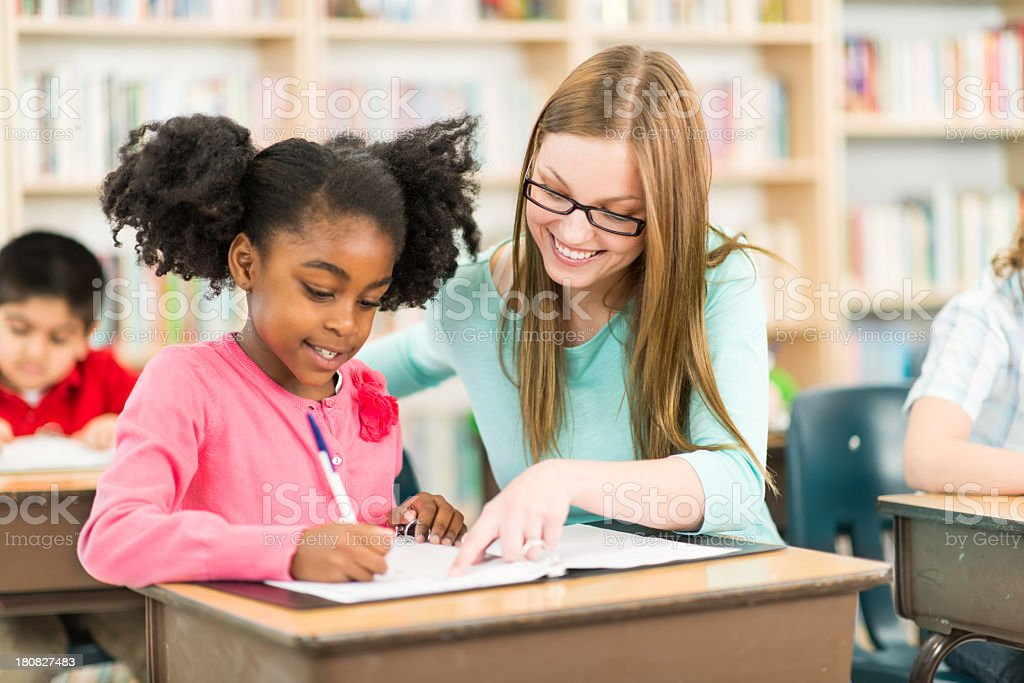 Diverse Elementary Students stock photo