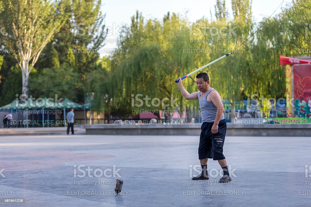 Diverse excerise in Ningxia, China stock photo