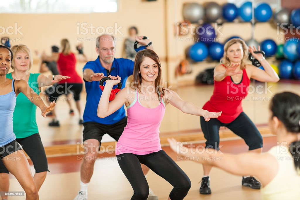 Diverse Exercise Class royalty-free stock photo