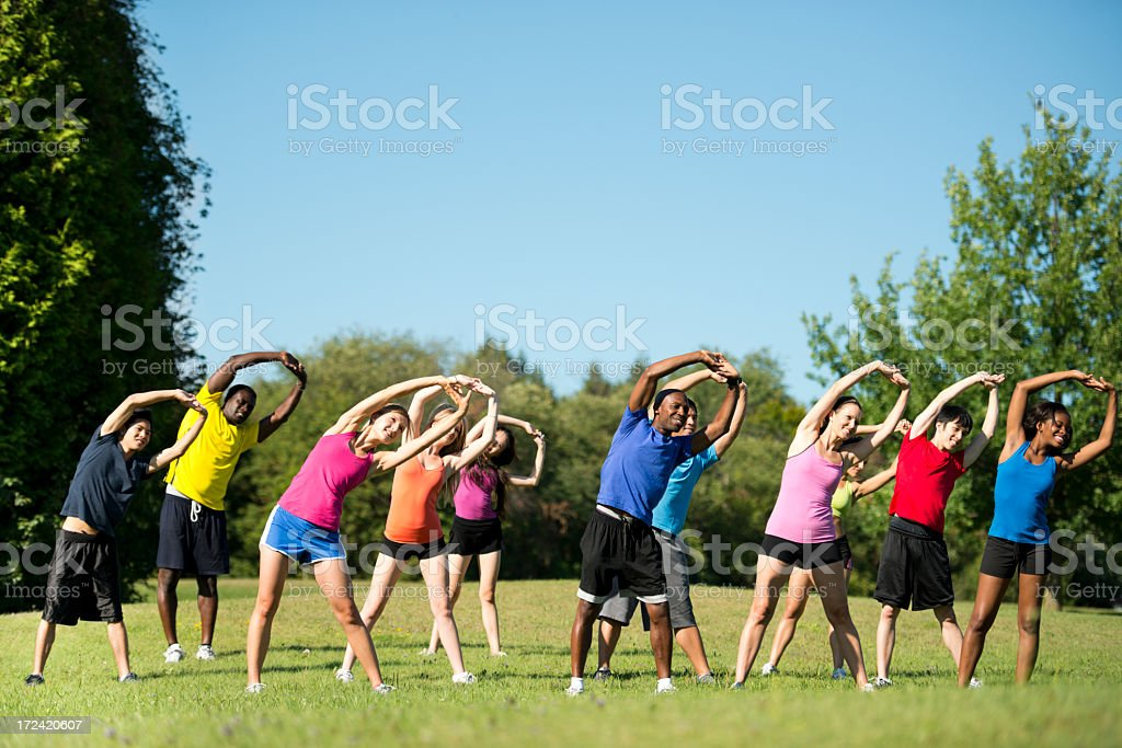 Diverse Exercise Group royalty-free stock photo