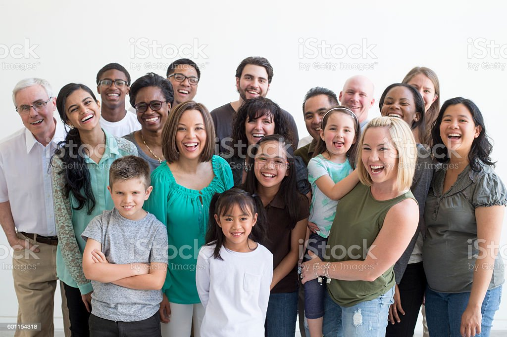 Diverse Family Group stock photo