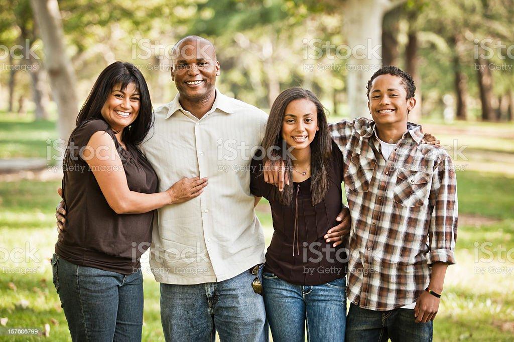 Diverse Family Photo stock photo