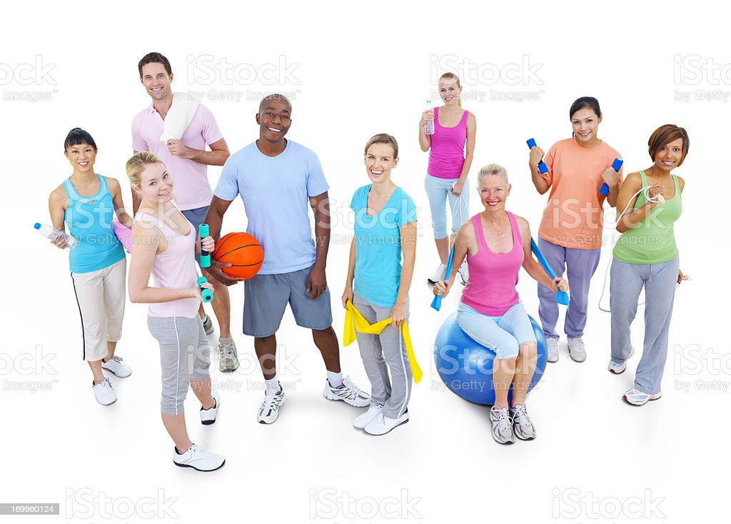 Diverse fitness group. royalty-free stock photo