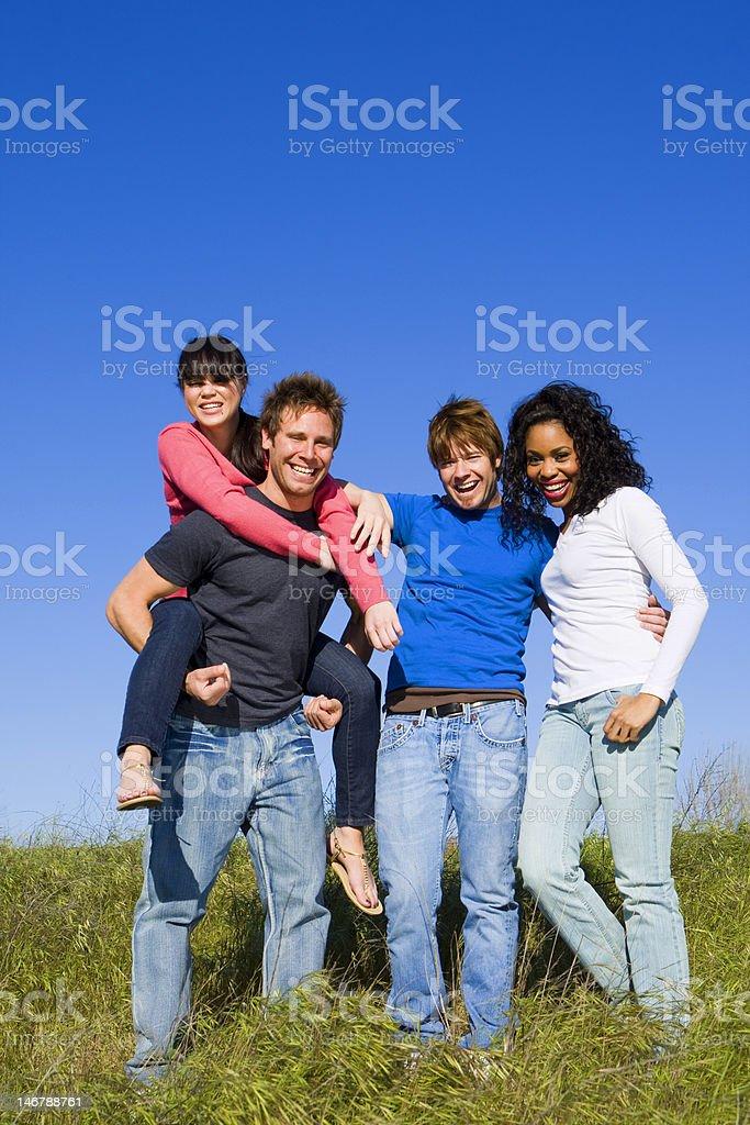 Diversos amigos foto de stock libre de derechos