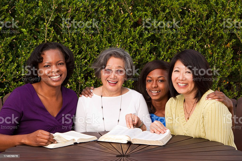Diverse generational group of woman stock photo