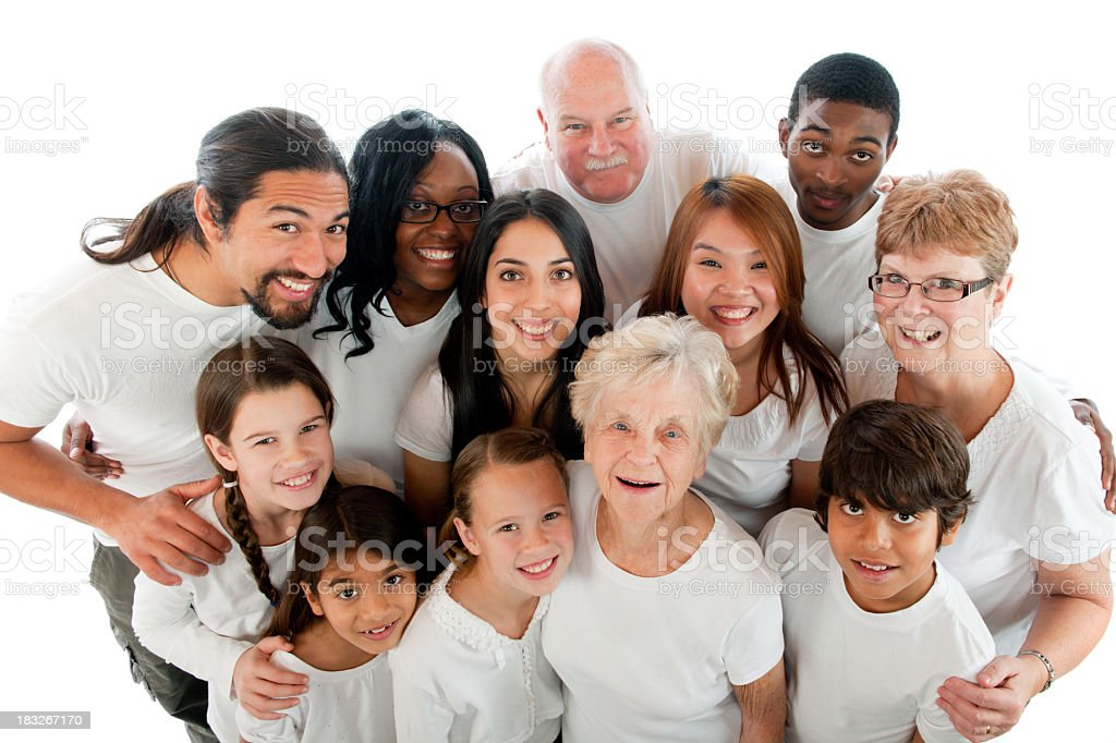 Diverse generations royalty-free stock photo
