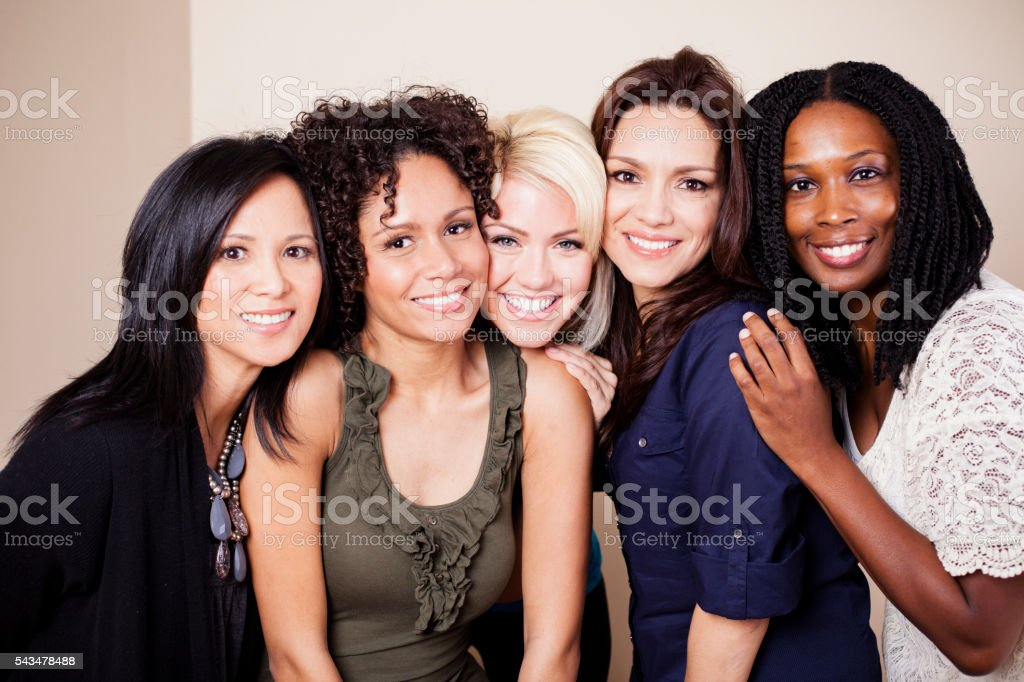 Diverse Group of Attractive Girls stock photo