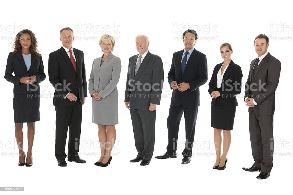 Diverse Group of Business People - Isolated royalty-free stock photo