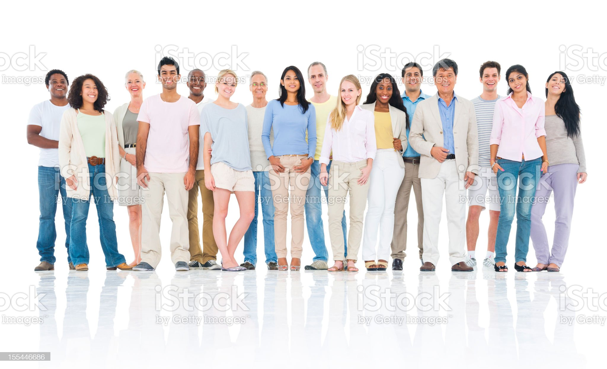 Diverse group of causal individuals royalty-free stock photo