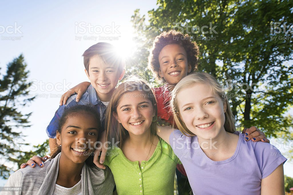 Diverse Group of Children stock photo