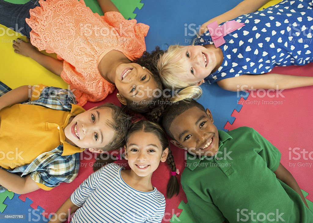 Diverse Group of Children. royalty-free stock photo